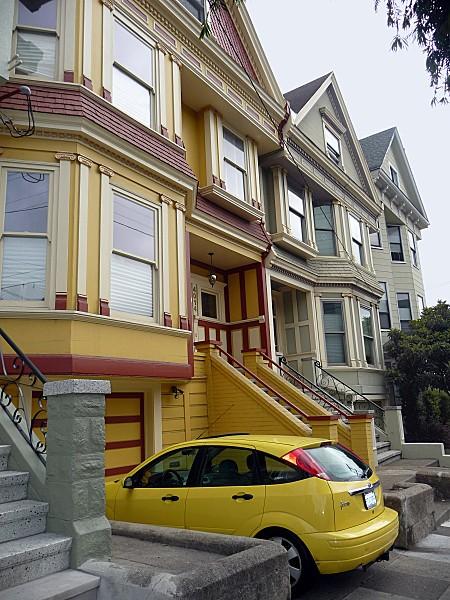 San Francisco Castro Maison voiture jaune