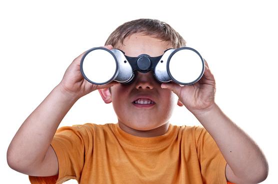 Fotos Junge Kinder Hand Starren Weißer hintergrund Blick