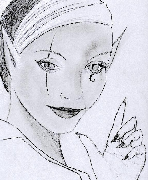 cest dur croire mais pour faire ce dessin je me suis largement inspire dune photo de marguerite duras 18 ans hein