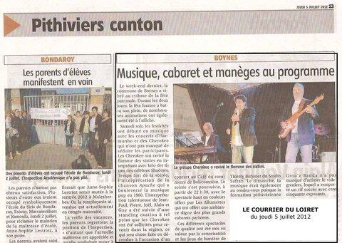 Le Courrier du Loiret du 05/07/2012