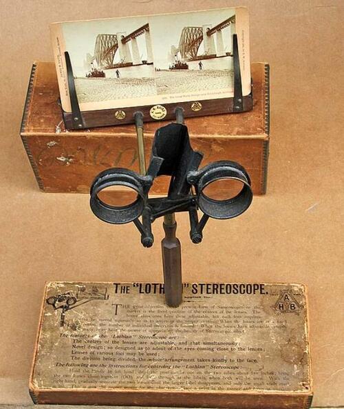 Stéréoscopie. Visionneuse (années 1850)