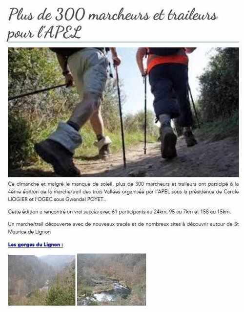 Marche et trail 2016 : revue de presse et album souvenir