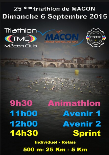 Triathlon de Mâcon 6 septembre 2015