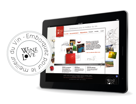 Wine Love - Le site internet