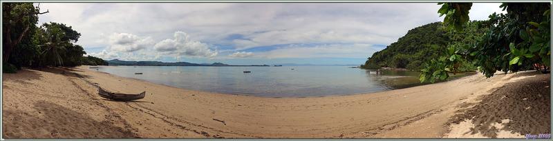 Vue panoramique de la plage du Sakatia Lodge - Nosy Sakatia - Madagascar