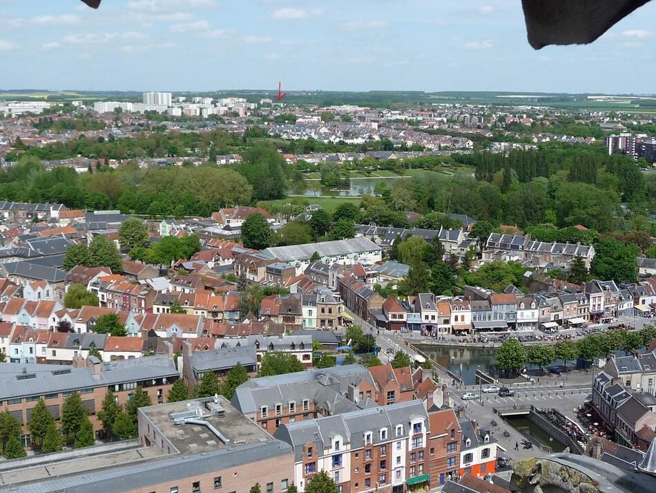 Amiens, d'encore plus haut