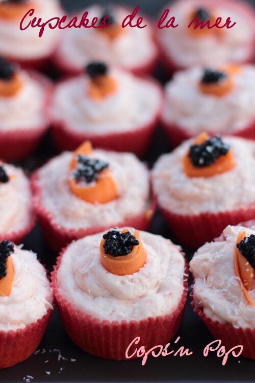 Cupcakes salés de la mer