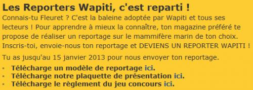 Concours Wapiti