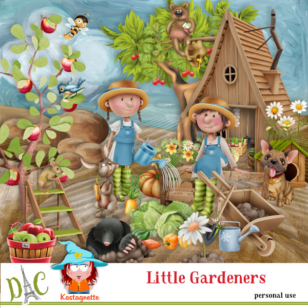 Little Gardeners by Kastagnette