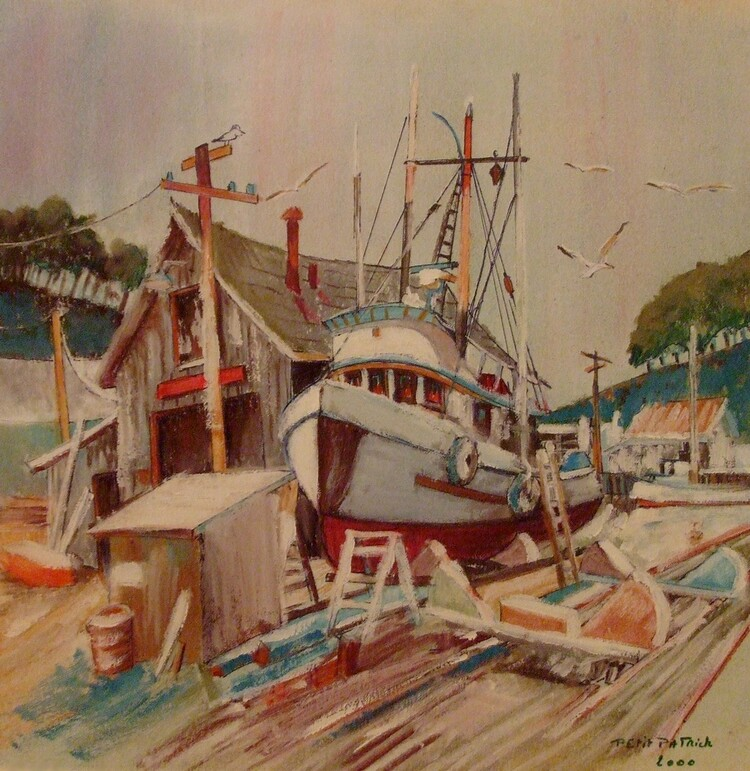 bateau en reparation