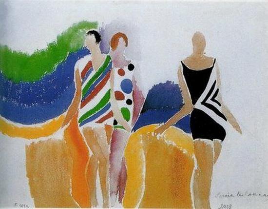 Sonia Delaunay, Les filles en maillot, 1928