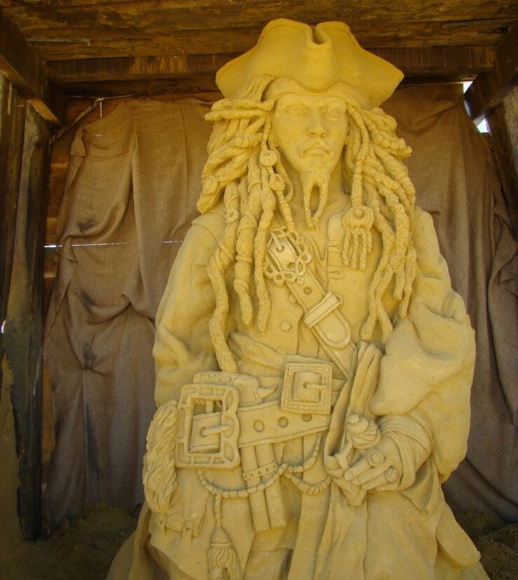 Jack Sparrow - Sculpture en sable