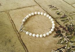 Les gris anthracite et roses et blancs - Pierres de quartz rose, jaspe gris, hématite et perles de culture, corail