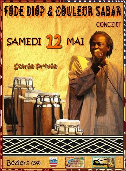 ★ Concert Fodé Diop & Couleur Sabar [Samedi 12 Mai 2018]