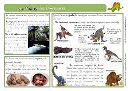Au temps des Dinosaures
