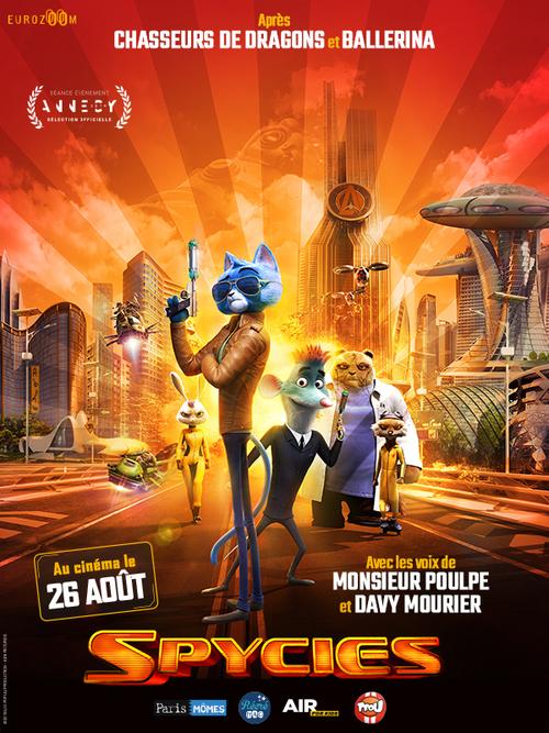Après Chasseurs de Dragons et Ballerina, SPYCIES au cinéma le 26 août 2020 avec les voix de Monsieur Poul