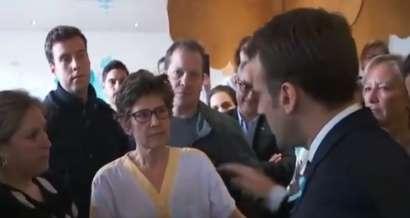En visite au CHU de Rouen, Emmanuel Macron a vécu un échange particulièrement houleux avec une infirmière en colère.
