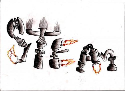 Dessins sur le thème Steampunk