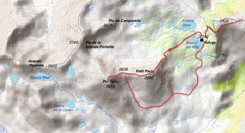 Schéma du parcours du jour 2