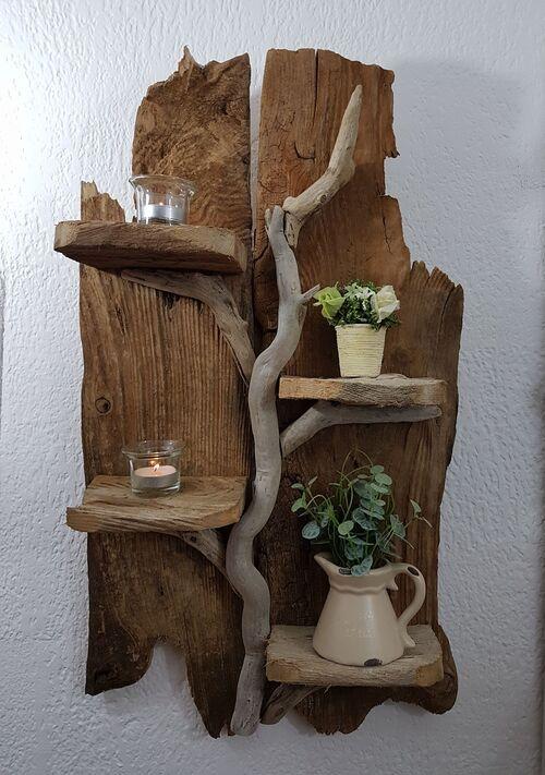 grande étagere en bois flotté