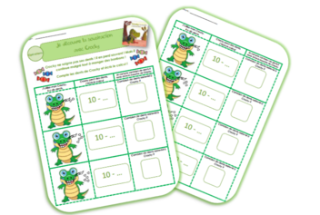Additions et soustractions de 1 à 5 : exercices - Crocky le crocodile a mal aux dents