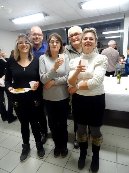 Les bénévoles des Restos du Cœur ont partagé la galette des Rois avec leurs généreux donateurs...