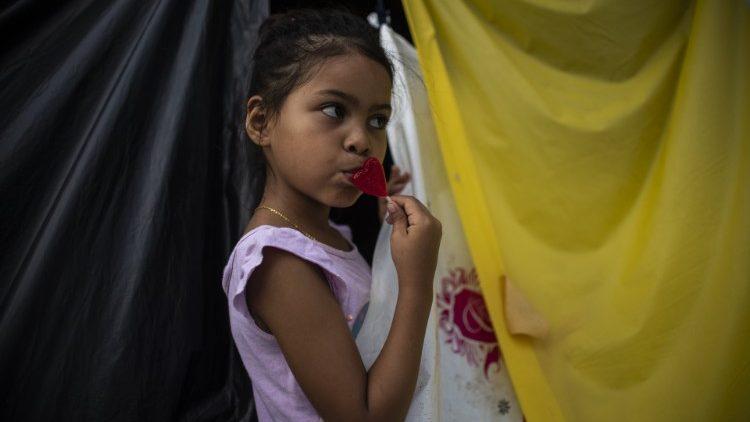 Une enfant du Honduras arrivée dans l'État du Chiapas (Mexique), le 23 octobre 2018