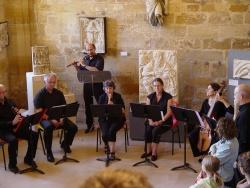 Les musiciens du CIM dans la salle des sculptures