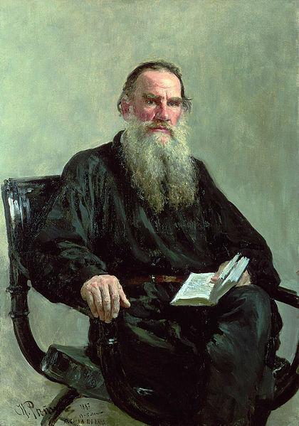 Fichier:Ilya Efimovich Repin (1844-1930) - Portrait of Leo Tolstoy (1887).jpg