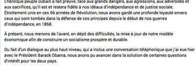 Un consterant extrait du discours de Raoul Castro qui montre qu'il y a encore du chemin à parcourir