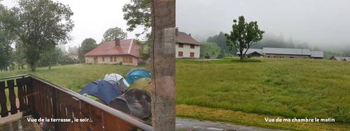 Sous la pluie jurassienne ...