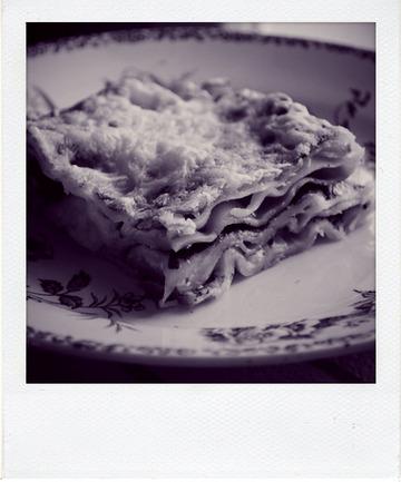 Lasagnes mozzarella et feuilles d'épinard