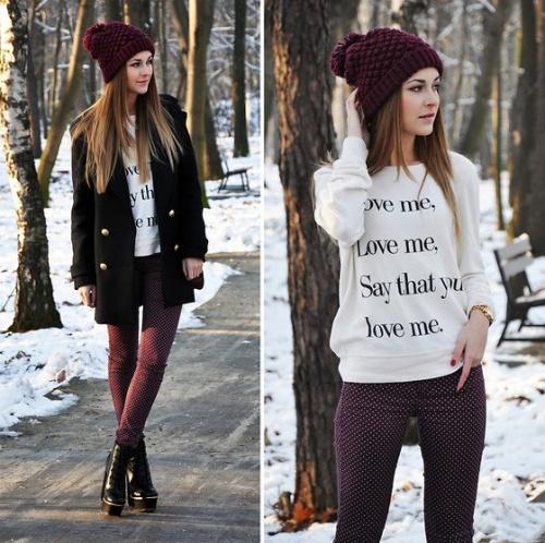Les plus belles tenues pour l'hiver ♥