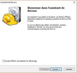 RECUVA  Récupérer des fichiers perdus . . .
