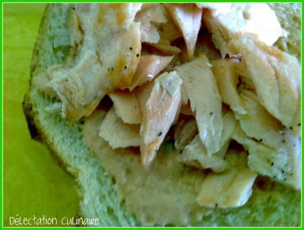 Tartines de la mer ; saumon et sauce onctueuse