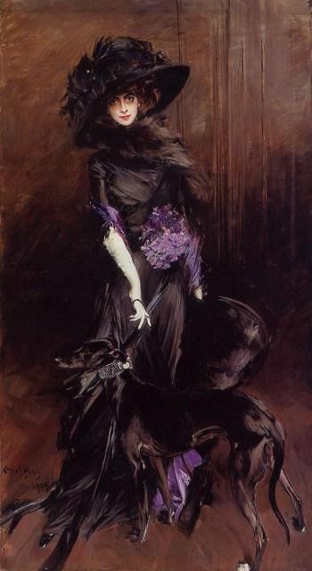 Giovanni Boldini, La marquise Luisa Casati avec un lévrier (1908)
