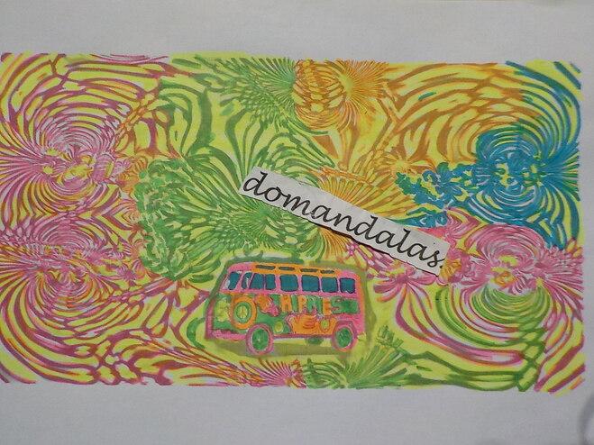 DOMANDALAS  coloriage bus psychédélique
