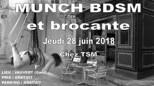 Munch et brocante BDSM jeudi 28 juin 2018