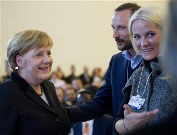 Haakon et Mette Marit à Davos