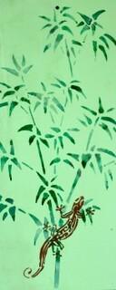 Pochoir Bambou Salamandre Fouras