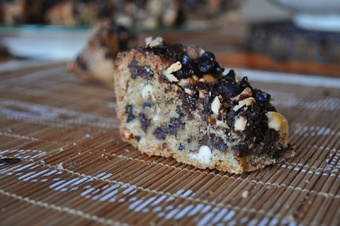 Brownies noisettes et sucre de canne