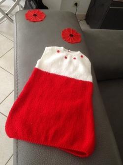 Voici la première robe que j'ai tricotée