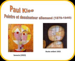 "Portraits abstraits, façon ""Senecio"" de Paul Klee Etape 2 : imitation"
