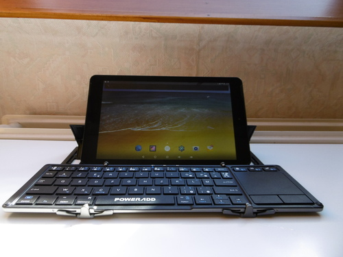POWERADD Clavier Bluetooth AZERTY Pliable
