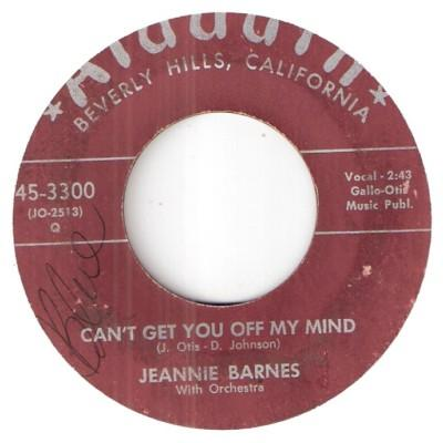 JEANNIE BARNES - can't get you off my mind