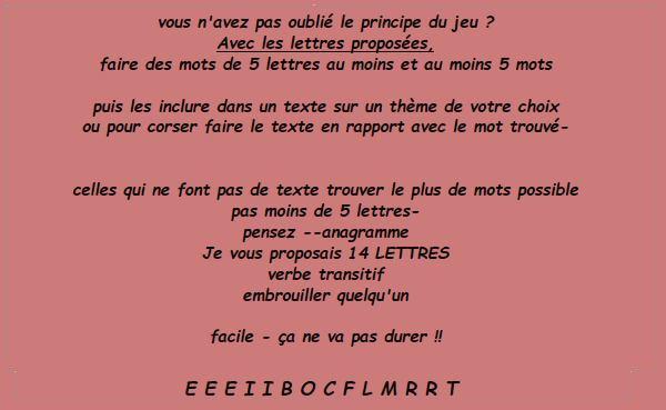 Jeu de Lettres 205