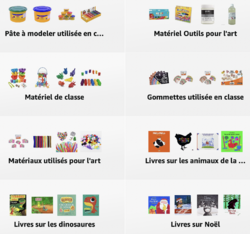 Le matériel utilisé en classe :