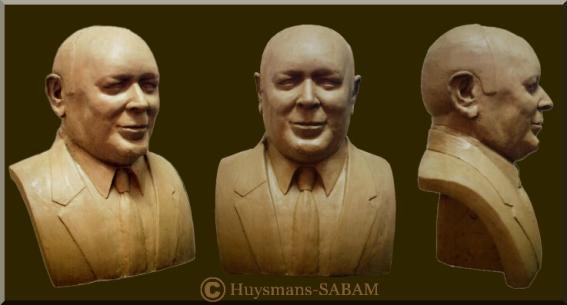 Sculpture d'un portrait en terre - Arts et sculpture: sculpteur portraitiste