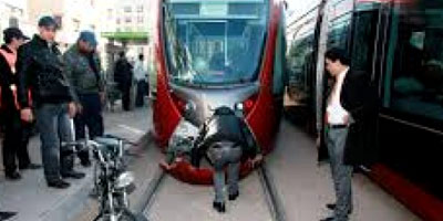 Photo accident mortelle tramway Casablanca