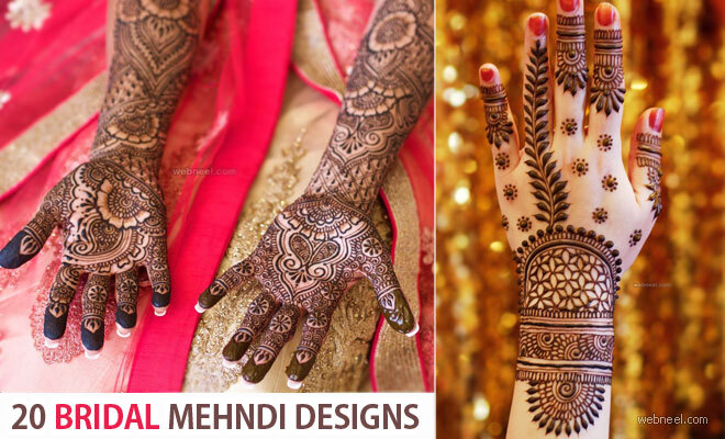 20 Beautiful Bridal Mehndi Designs by famous designer Darcy Vasudev